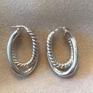 Italian made sterling silver hoop earrings